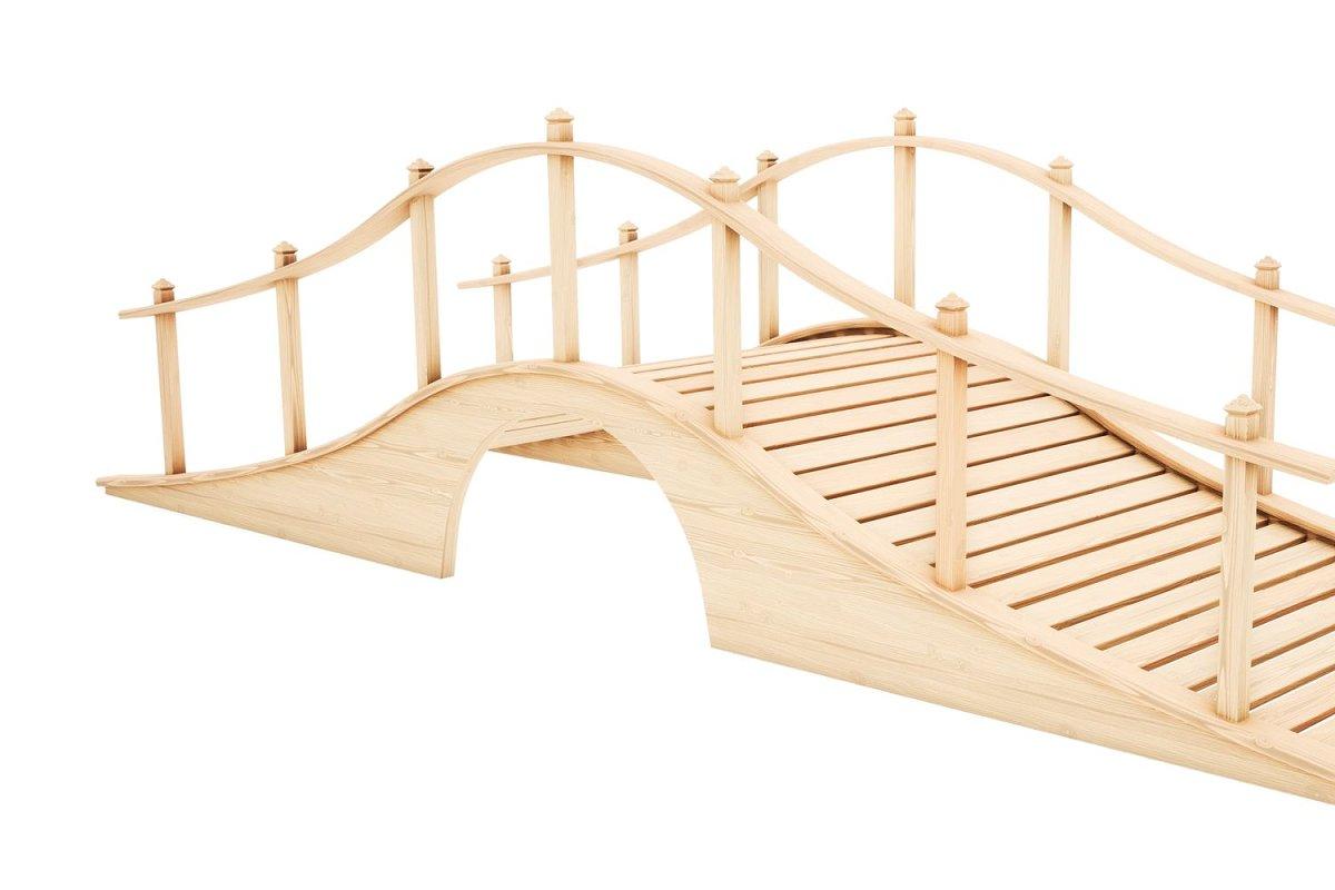 Lowpoly model wooden bridge