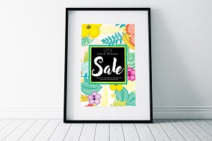Sale Typography Psd Flyer Templates