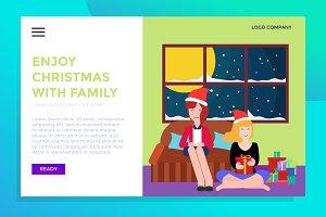 landing page family christmas