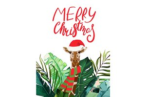 Christmas Tropical Card