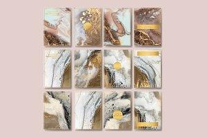 gold flyer, liquid marble