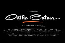 Datho Ostma by  in Script Fonts