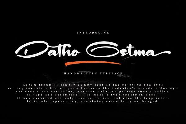 Script Fonts - Datho Ostma