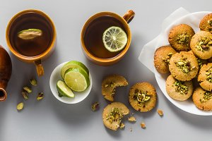 banner of homemade cookies, almond a