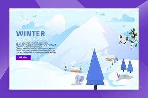 landing page winter coming day