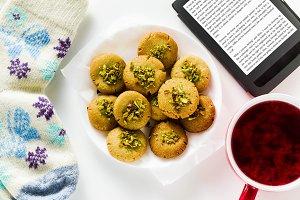 homemade cookies, almond and sesame