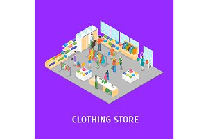 Clothing Store Interior Set