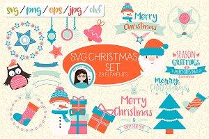SVG Christmas set