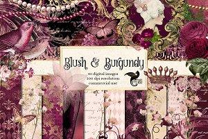 Blush & Burgundy Graphics