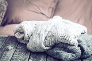 warm clothes, knitted sweaters