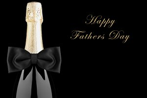 Happy Fathers Day Champagne Bottle