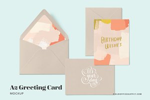A2 Greeting Card Mockup