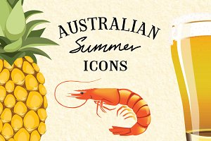 Australian Summer Vector Icons