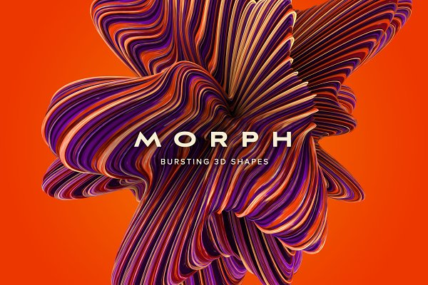 Textures: Chroma Supply - Morph: Bursting 3D Shapes
