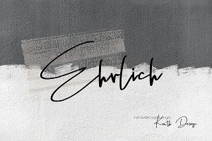 Ehrlich - Signature Typo Font