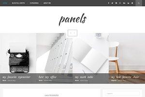 Panels - blog WordPress theme