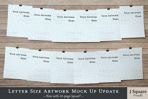 Letter Size Art Print Mock Ups