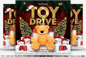 Toy Drive Party Flyer