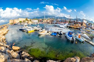 Boats and yachts in Kyrenia (Girne)