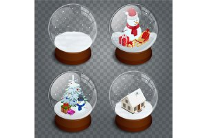 Isometric Christmas transparent