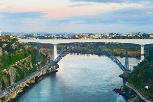 Infante bridge Douro river Porto
