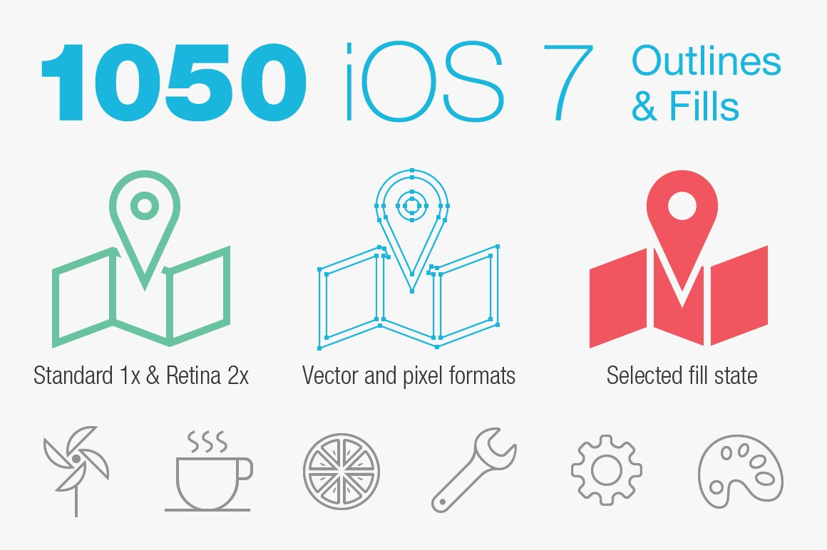 Ios 7 tab bar icons by pixellove icons creative market thecheapjerseys Gallery