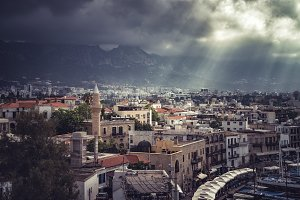 Old town in Kyrenia, Cyprus