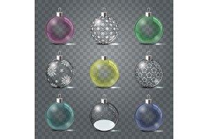 Glass Christmas toys set