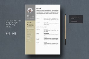 resume template references pages