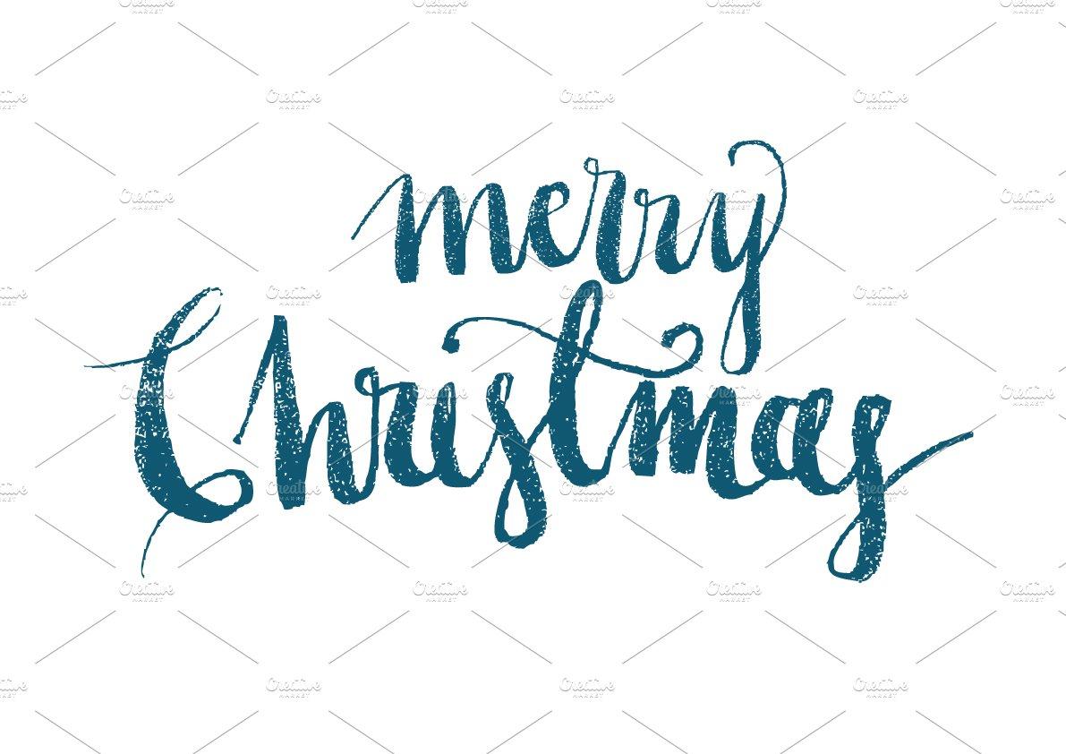 merry christmas modern calligraphy illustrations creative market