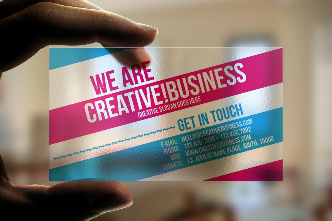 Transparent Business Card Business Card Templates Creative Market