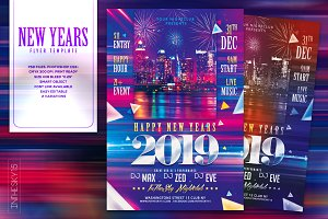 New Years 2019 Flyer Template