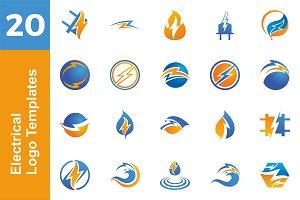 20 Logo Electrical Templates Bundle