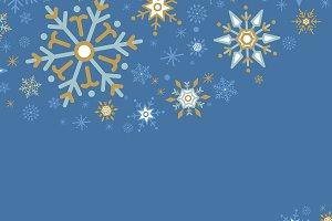 Blue Christmas winter holiday vector