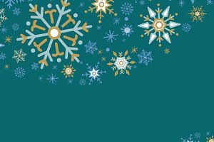 Green X'mas winter holiday vector
