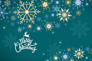 Merry Christmas snowflake vector
