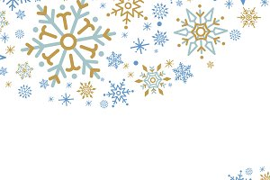 White Christmas snowflake vector
