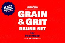 Grain Texture Brushes for Procreate by  in Brushes