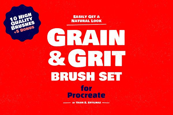 Photoshop Brushes - Grain Texture Brushes for Procreate