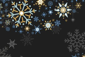 Black Christmas snowflake vector