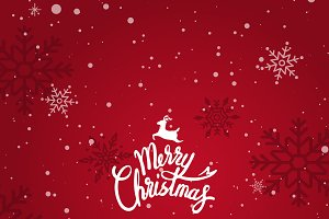 Merry X'mas red background vector