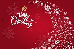 Merry christmas red holiday vector