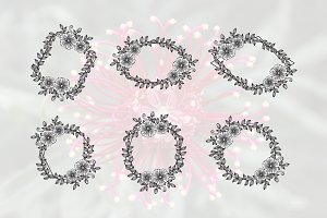 6 Feminine Florist Wedding Frame