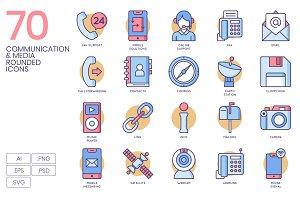 Communication & Media Round Icons