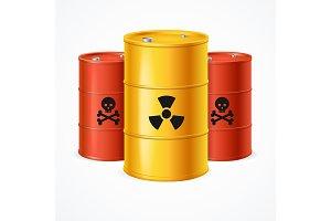 Realistic Radioactive Waste Barrels