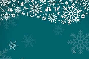 Green christmas holiday vector