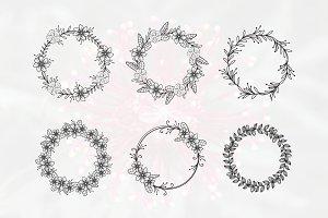 6 Flower Florist Wedding Circle Ring
