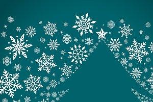 Green christmas winter holiday vecto