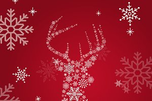 Red christmas winter holiday vector