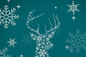 Green christmas holiday vector